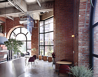 AQUI / Cafeteria, space, interior design