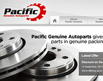 Pacific Genuine Autoparts web site design