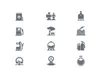 Azstraststroy website: Menu icons