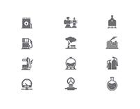 Azstraststroy website: Menu icons