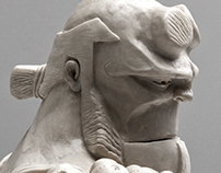 Hellboy Sculpture