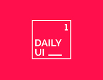 DAILY UI CHALLANGE | #1
