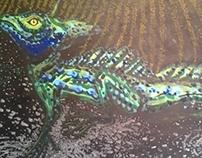 "Contemporary Art : ""Lizard Basiliscus"""
