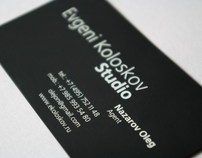 Silkscreen business cards