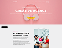 Creative Agency Landing Pages - GENEMY THEME