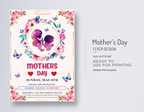 Mothers Day Flyer Title Design