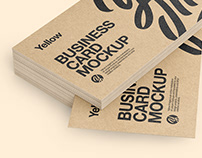 10 Kraft Business Cards Mockups