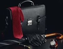 Briefcase, Umbrella, Clock & Pen