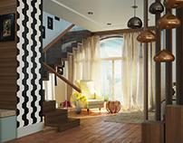 Living Room Interior Study