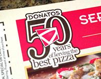 Donatos 50th Anniversary Logo