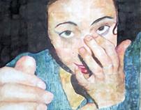 Self-portrait in watercolor