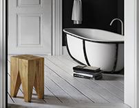 Black Scandinavian Bathroom