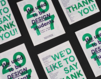 We Used To Be Design Students | Degree Show Booklet