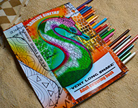 ''Very Long Snake '' Adult colouring book By Artist-SG