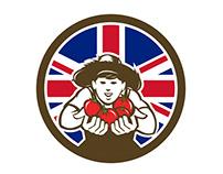 British Organic Grown Produce Union Jack Flag Icon