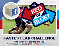 Sony PlayStation Red or Blue Facebook App