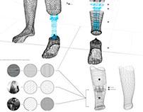 3d tisk: karosáž protézy dolní končetiny