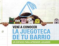 Imagen de marca Juegoteca ONG Abrir la Puerta Branding
