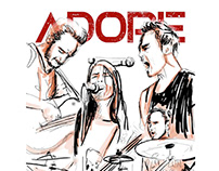 Visual identity / ¨ADORE¨ rock band