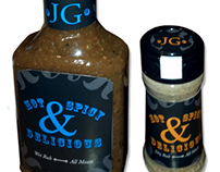 JG Hot, Spicy, & Delicious: Marinade Labels
