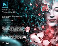 Adobe Photoshop CC splash screen. non-official