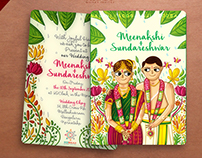 Tamil Brahmin Wedding Invitation