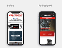 Ridge Footwear: Web UI Re-Design