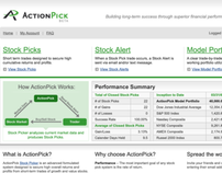 ActionPick (USA) website design