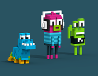 Voxel Cartoons V4