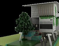 HOME+STUDIO ARCHITECTURE (Tadao Ando Characteristic)