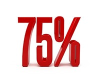 Red Discount 75 Percent