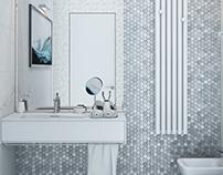 Minimalism in the interior. Guest bathroom _2. (2017)