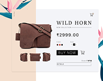 E commerce Product Page Design