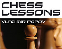 Book cover design for Chess Lessons by Popov