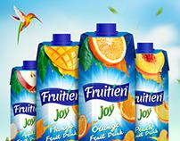 Fruitien Joy Juice Drink Packaging Design