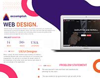 Accomplishep Resdesign -UI / Ux case Study