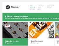 Wunder - Metro Theme Design