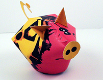 PIGGY the BANK paper toy