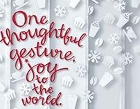 Starbucks Christmas 2012 printed ad campaign.