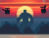 8bit Kong - Pixel Art