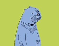 A BLUE BEAR