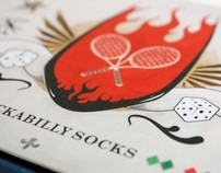 Rockabilly Socks // Packaging