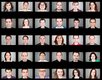 True Faces / digital agency team photo shooting