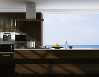Modern kitchen3d