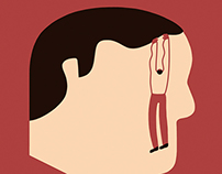 Illustration for Austin Monthly. Mental illness
