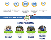 High Altitude Tennis - Call to action line