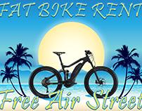 Free Air Street- fat bike rent logo art