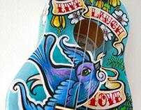 Custom Ukulele - Live, Laugh, Love
