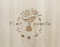 Logo design proposal for Flor People Ukraine.