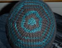 Striped hat, 100% Cashmere, unisex.